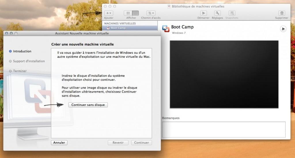 Copie d'écran de création de VM