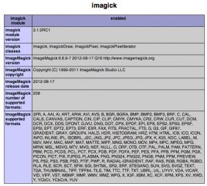 ImageMagick est installé